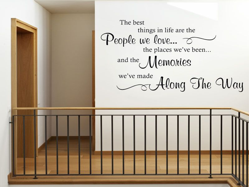 The Best Things In Life Are Wall Art Quote Sticker